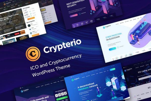 Crypterio -  ICO ve Cryptocurrency WP Temasısı