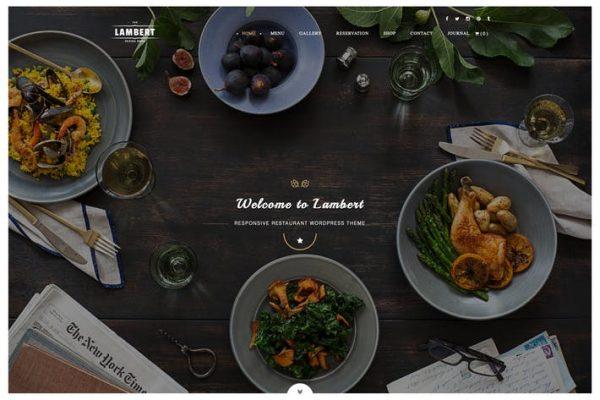 Lambert - Restoran / Kafe / Pub WordPress Temasısı