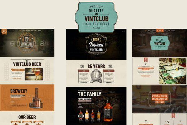 VintClub -  Bir Pub ve Viski Barı WordPress Temasısı