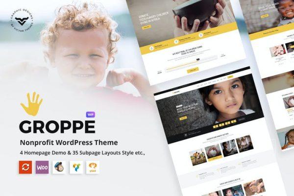 Groppe -  Kâr Amacı Gütmeyen WordPress Temasısı