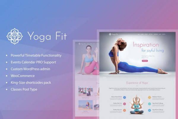 Yoga Fit -  Spor, Fitness ve Spor Salonu WordPress Temasısı