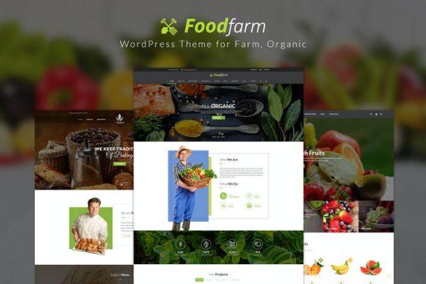 FoodFarm -  Çiftlik, Organik için WordPress Temasısı