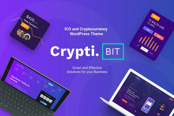 CryptiBIT -  Kripto para birimi, ICO WordPress teması