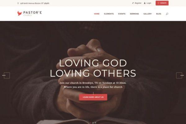 Pastor'e - Kilise, Din ve Yardımlaşma WP Temasısı