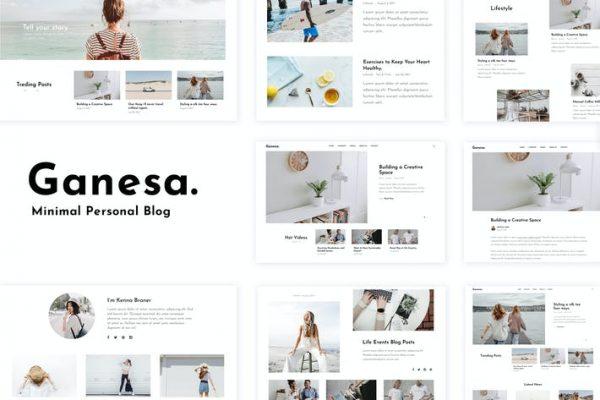 Ganesa - Minimal WordPress Kişisel Blog Temasısı