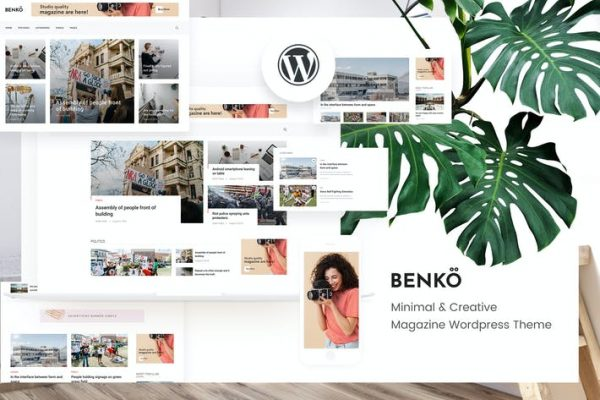 Benko -  Creative Magazine WordPress Temasısı
