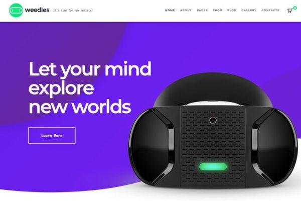 Weedles - Sanal Gerçeklik Açılış Sayfası ve Mağaza WP