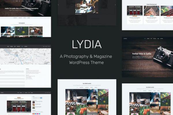 Lydia -  Fotoğraf ve Dergi WordPress Temasısı