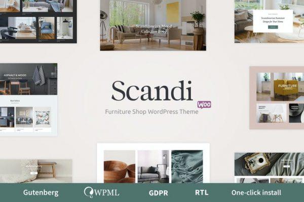 Scandi -  Dekor ve Mobilya Mağazası WooCommerce Teması