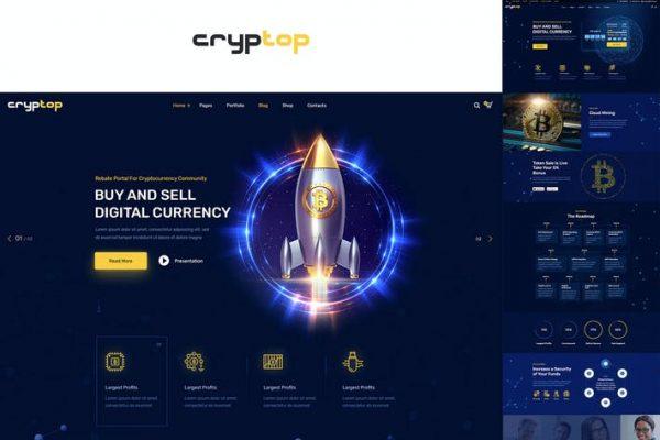 CrypTop - ICO Açılış ve Kripto Para Birimi WordPress