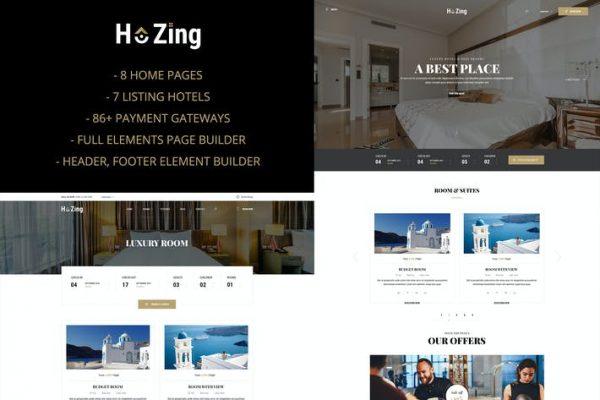 Hozing - Otel Rezervasyonu WordPress Temasısı