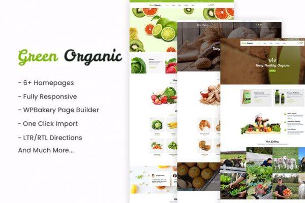 GreenOrganic -  Organik ve Fırın WordPress Temasısı