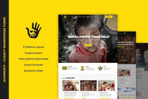 CharityHeart - Kâr Amacı Gütmeyen WordPress Temasısı