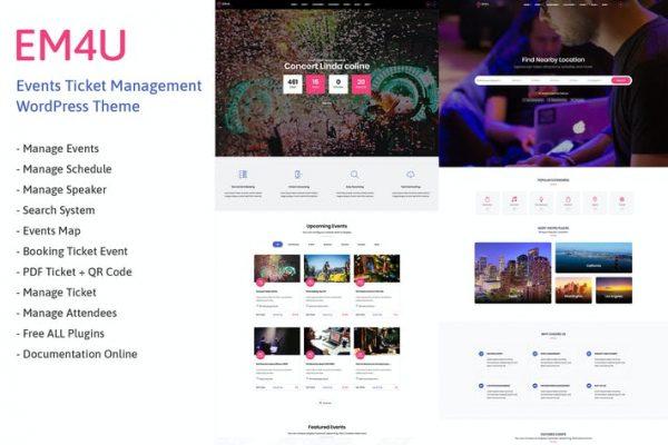 EM4U - Etkinlik Biletleri WordPress Temasısı