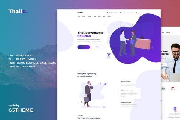 Thallo - Danışmanlık ve Finans WordPress Temasısı