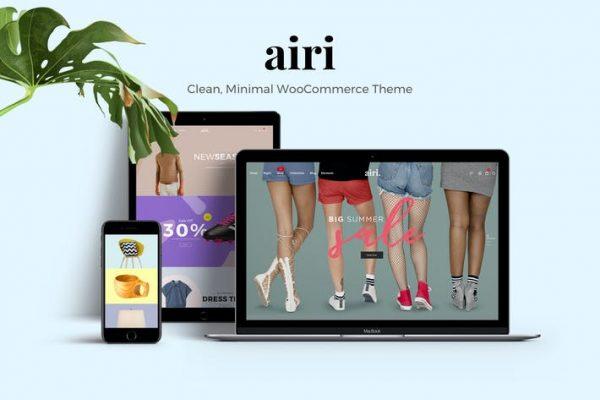 Airi -  Temiz, Minimal WooCommerce Temasısı