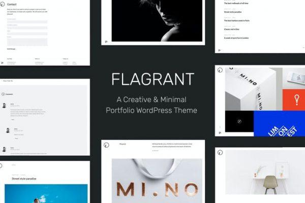 Flagrant -  Yaratıcı Portföy WordPress Teması Fo