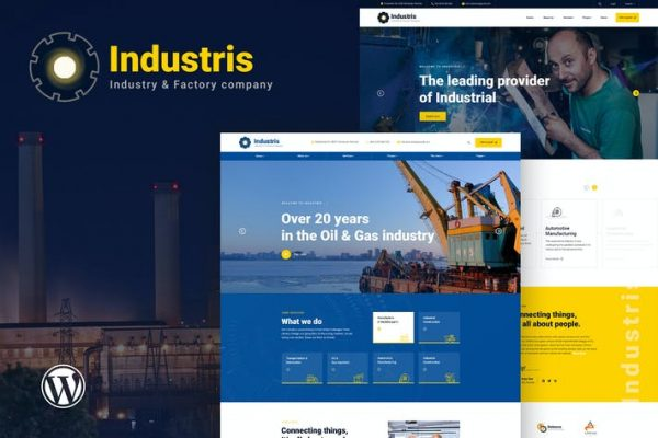 Industris - Fabrika ve İş WordPress Temasısı