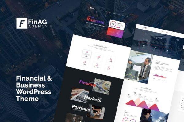 Finag - Yaratıcı ve Finans Ajansı WordPress Temasısı