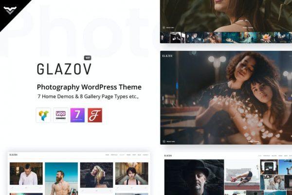 Glazov -  Fotoğrafçılık WordPress Temasısı