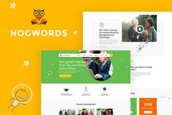 Hogwords -  Eğitim Merkezi WordPress Temasısı