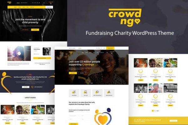 Crowdngo -  Bağış Toplama Yardım WordPress Temasısı