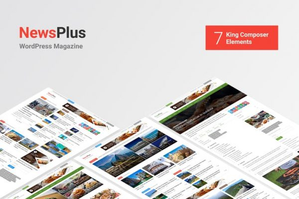 NewsPlus -  Haberler ve Dergi WordPress teması