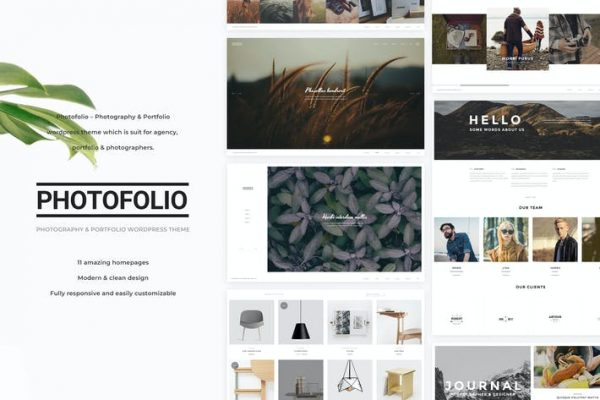 Photofolio -  Fotoğrafçılık WordPress Temasısı