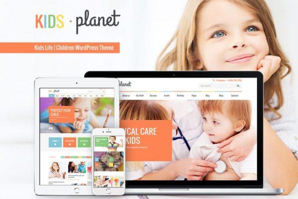 Kids Planet -  Çok Amaçlı Çocuk WP Temasısı