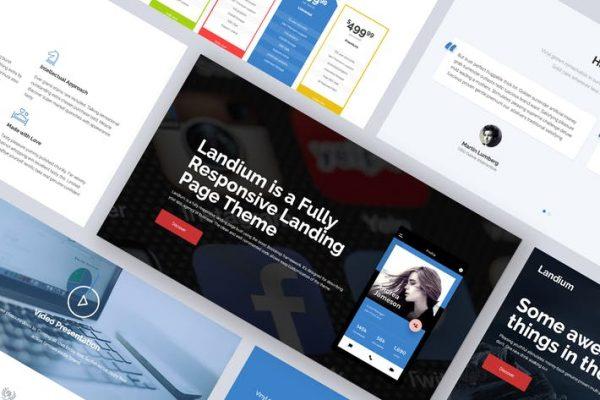 One Page Landing Page WordPress Teması