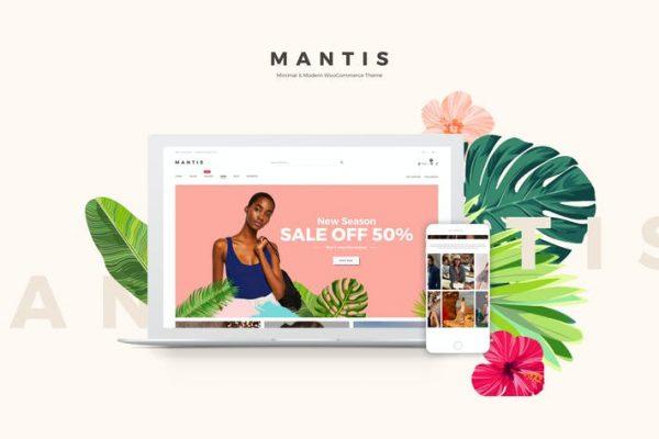 Mantis - Minimal ve Modern WooCommerce Temasısı