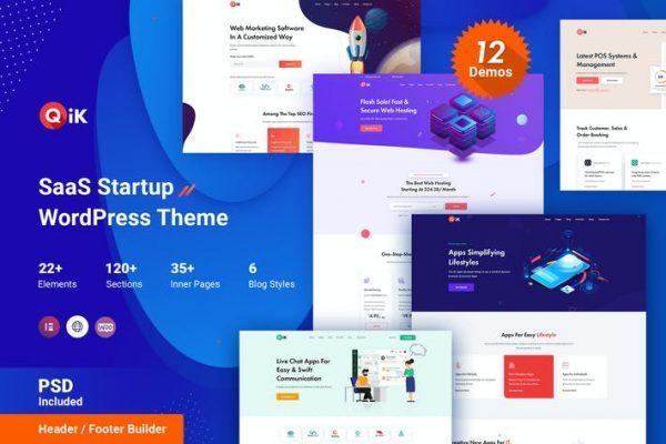 QIK - SaaS Startup WordPress Temasısı