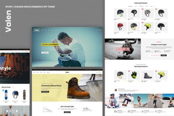 Valen - Spor, Moda WooCommerce WordPress Temasısı