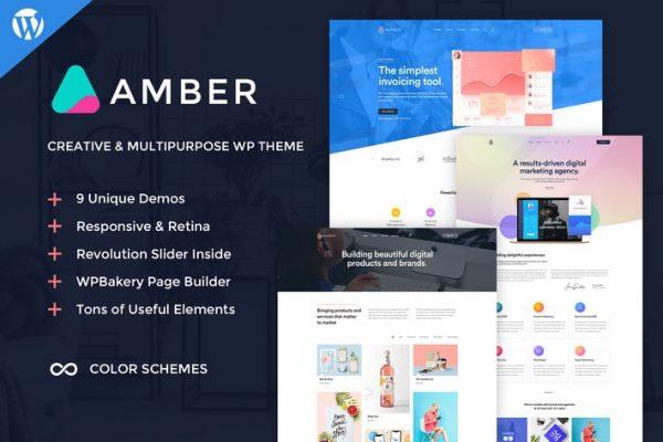 Amber Six -  Yaratıcı WordPress Temasısı