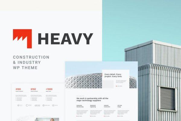 Heavy -  Endüstriyel WordPress Temasısı