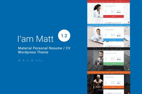 I am Mat - Materyal Kişisel WordPress