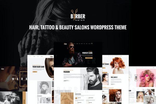 Barber - Saç, Dövme ve Güzellik Salonları WP Teması