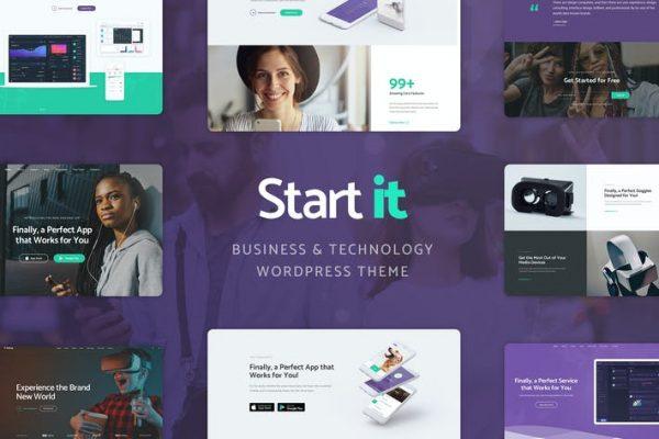 Start It -  Teknoloji ve Başlangıç WP Temasısı