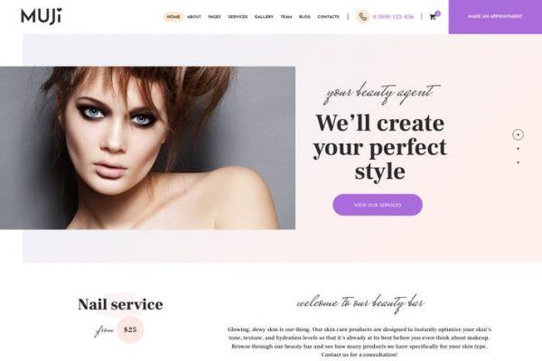 Muji - Güzellik Salonu & Spa Salonu WordPress Temasısı