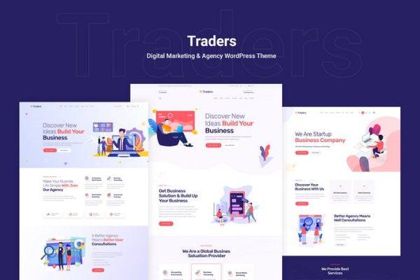 Traders - Dijital Pazarlama ve Ajans WordPress