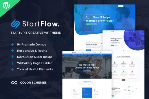 StartFlow - Yaratıcı Çok Amaçlı WordPress Temasısı