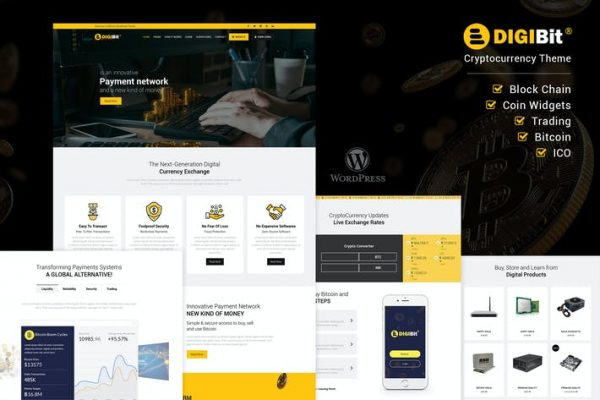 DigiBit - Kripto Para Madenciliği WordPress Temasısı