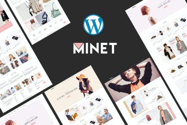 Minet - Minimalist e-Ticaret WordPress Temasısı