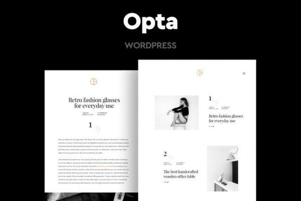 Opta - Minimal Portföy ve Fotoğraf Temasısı
