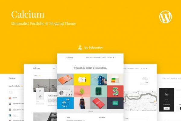 Calcium - Minimalist Portföy ve Bloglama Temasısı
