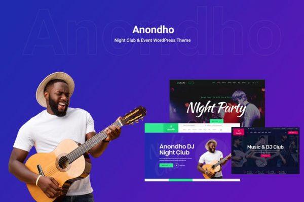 Anondho - Gece Kulübü ve Etkinlik WooCommerce WordPress