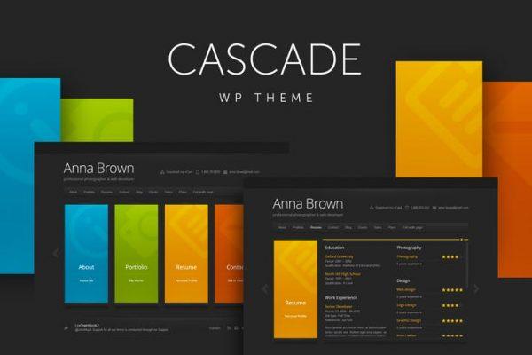 Cascade -  Kişisel vCard WordPress Temasısı