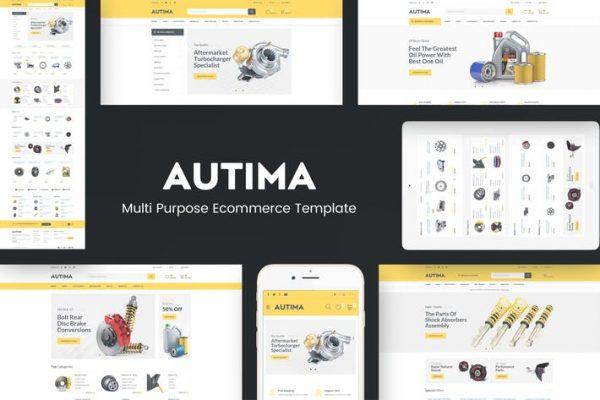 Autima -  WordPress için Araba Aksesuarları Temasısı