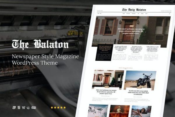 Balaton - Gazete tarzı Dergi WordPress Teması