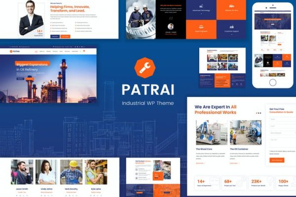 Patrai Industry - Endüstriyel WordPress